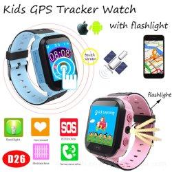 Los niños de la luz LED inteligente GPS Dispositivo de seguimiento con Free Android&ios APP D26