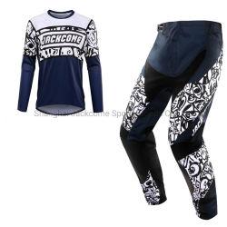 Мужские брюки и джерси MX Motocross MTB Комплект/костюмы ATV Dirt Наборы для велосипедов с графикой, нанесенной в технике сублимационной печати, не пропускают воздух