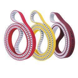 PU Courroies de distribution avec enduit de bonne qualité de couleur rouge à la norme ISO