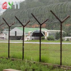 Netwerk 358 van het prikkeldraad de Omheining Gelaste Omheining van het Scheermes van het Concertina van de Luchthaven