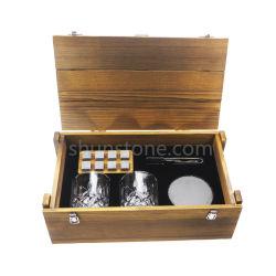 Vaso de Whisky Eyozka Set Caja de regalo - Cortador de puros y Whiskey piedras incluido - Piedras escalofriante Don