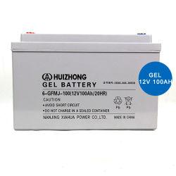 Hizn 100Ah Armazenamento de gel Bateria Home Sistema Solar 100Ah 12V Gel Bateria de célula
