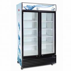 Bevande refrigerate dritte della vetrina di vendita del portello di vetro caldo del doppio e Merchandiser di vetro del portello del dispositivo di raffreddamento delle bevande