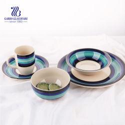 Couleur 9 pouces de dessin à la main ou un modèle de plaque en céramique de poterie de dîner de la porcelaine Vaisselle Tc23001230-a