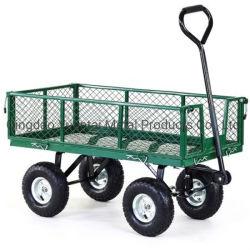 Chariot de jardin en acier de l'utilitaire, extérieur de la Pelouse wagon avec des côtés amovibles