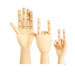 El maniquí de madera de artista flexible modelo de la mano
