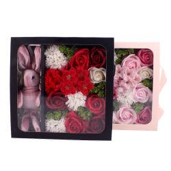 الزهور Bath Scented أوراق نبات الصابون الورد بتلات الزهور، مجموعة وردة الزيت الأساسية النباتية، أفضل الهدايا لنساء لها الأمهات عيد الميلاد عيد الميلاد عيد الميلاد عيد الميلاد