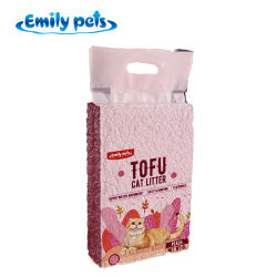 Tofu natural puro, la arena de gato fuerte absorción de agua sin polvo aglomeración rápido desodorización Bean hez Gatos