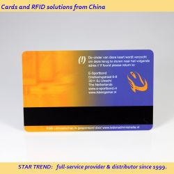 자기 줄이 있는 PVC 멤버십 기프트 카드