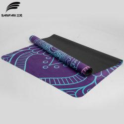 Sanfan Floding e stuoia di gomma di yoga della pelle scamosciata lavabile