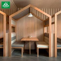 주문을 받아서 만들어진 도매 대중음식점 가구 고정되는 나무로 되는 테이블 직물 소파