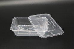 Amido di mais concimabile a gettare biodegradabile di 100% personalizzato intorno ai contenitori di alimento di plastica variopinti a gettare per l'insalata della minestra