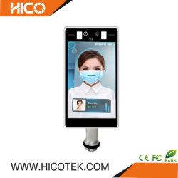 8 인치 이마 온도계 발열 체온 스캐너 얼굴 인식 CCTV IP 디지털 열 적외선 화상 진찰 사진기