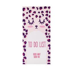 Lindo populares de leopardo Rosa Bloc el Bloc de notas clavar en la cabeza de lista de tareas