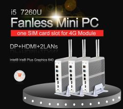 Новые настольные компьютеры без вентиляторов процессоров Intel Core i5 7260u 2память DDR4 SD компьютера с Dp 4K HD двойной сетевой игры для настольных ПК