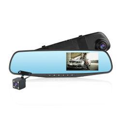 Full HD 1080P carro câmara DVR Auto Espelho Retrovisor 4,3 polegadas Gravador de Vídeo Digital de lente dupla câmara Dash