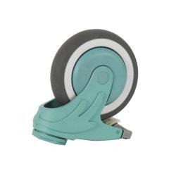 OEM/ODM Medium Duty Swivel 4 Zoll Kunststoff Gabel hohl Niete Schwenkfräser mit medizinischem TPR-Radfräser