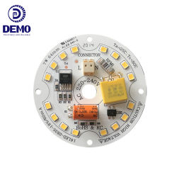 LED Bulblight를 위한 3 년 보장 RoHS Kc에 의하여 증명서를 주는 147lm/W 7W Ra80 220-240V Non-Flickering Dob Driverless AC LED 모듈 PCB PCBA