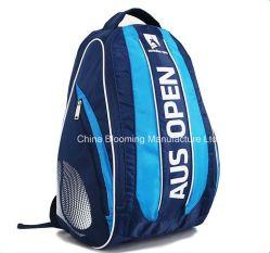 Оптовая торговля Custom Designer мужчин мальчик студент моды синий Dobby нейлоновые рэкет двойной плечевой кемпинг дорожная сумка для использования вне помещений бадминтон настольный теннис спортивный рюкзак