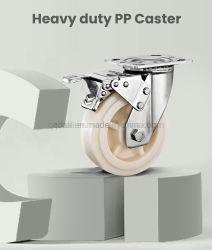 Plaque de résistance de la Corrosion Dlpo Roulette pivotante les roues de chariot à usage intensif pour les industries chimiques