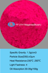 Pigmento di gomma del pigmento fluorescente organico di luce del giorno di resistenza di FF-21h Mirgation - fucsina