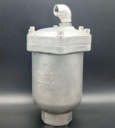 Valvola di rilascio dell'aria in acciaio inox ad alta pressione per liquame