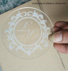Custom 85mm de diamètre du Logo de gravure de l'acrylique Coaster