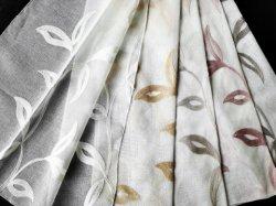 Feuille de maïs de la conception rideau brodé Tissu Dolly pure
