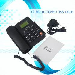 Faible coût Dual 2 ou 1 CARTE SIM GSM Fwp Téléphone de bureau avec radio FM et de l'ID appelant