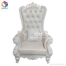 Élégant en bois de chêne Gold/blanc/couleur argent roi de la Reine du châssis de meubles de mariage enfant Kid Enfants Chaises