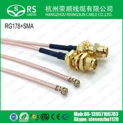 RG178 Koaxialkabel mit U FL (IPEXIPX) Mini-PCI auf RP-SMA-Buchse