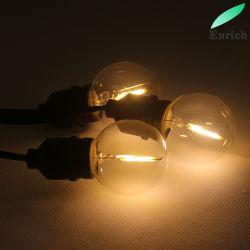 Lâmpada LED G40 transparente por parte de férias de String