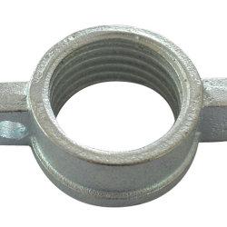 Andamios de hierro fundido de la base de gato de tornillo manejar la tuerca