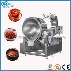 Preiswerter Paprika-Soße-elektrischer kochender Potenziometer-Quirl-schwarzer Pfeffer-Pasten-industrieller Mantelkessel-Mantelpotentiometer-Kessel des Preis-2021 mit dem Mischer, der Kessel für Verkauf kocht
