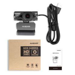 Ausdom Aw620 Universal Plug and Play совместимость регулируется ручной фокусировки на разных языках в формате Full HD 1080P ПК веб-камера с USB микрофон с функцией подавления шума