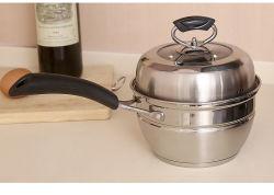 16cm de Acero Inoxidable utensilios de cocina leche olla vaporera con mango de baquelita