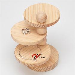 4 слоя ювелирных изделий из дерева подставка для дисплея