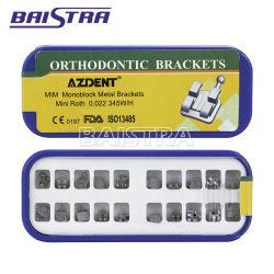 Высокая эффективность стоматологических моноблочная стандартных рот ортодонтические металлические кронштейны