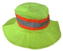 Fluor Tissu avec matériau réfléchissant safe guard Chapeau de godet