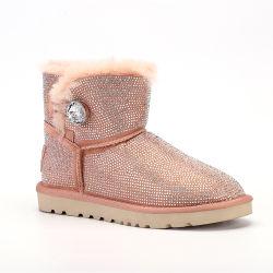 Sapatos de mulher suportados OEM jóias botas de neve Botas de tornozelo à prova de água quente