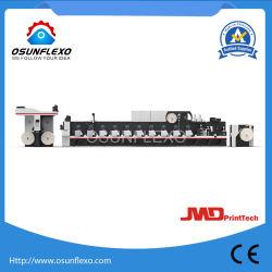 Hochgeschwindigkeitsmultifunktionskombinations-Kennsatz und Film Flexo Drucken-Maschine 200m/Min