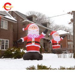 13FT/4м Рождество открытый гигантские Санта Клауса, надувные воздушной продувки большой Санта-Ярда украшения