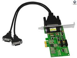 PCI-E 2 Hochgeschwindigkeitsseriendem adapter zur Kanal-RS-485/422 mit Lokalisierung Ut-792I