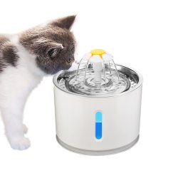 2.4L Automatische Pet Cat waterfontein met LED elektrische USB Hond kat Pet Mute drinker Feeder Bowl Huisdier Drinkende fontein Dispenser