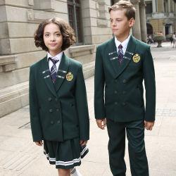 De style européen uniforme scolaire d'hiver de l'école Blazer enduire
