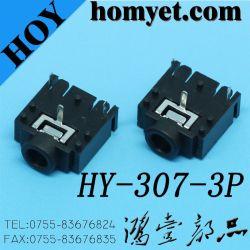 Tomada de telefone de 3,5 mm vendas quente do conector de áudio jack para produtos digitais (HY-307)