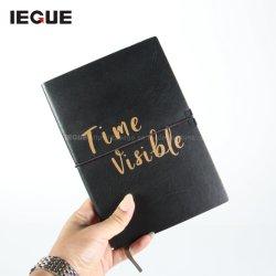 2021 nuovo design personalizzato realizzato in bianco personalizzato Logo personalizzato stampato in oro Notebook A5 con riviste Hardcover 100 GSM Luxury in pelle a punti
