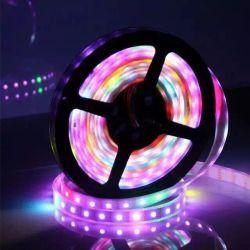 مؤشر LED شريط مرن مقاوم للمياه 50SMD Pixel RGB Ws2812b