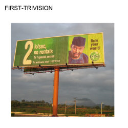 Tabellone per le affissioni esterno di traffico stradale di figura di T--Tri-Visione