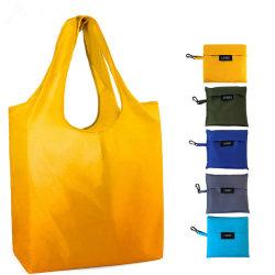 길쌈된 레이블 휴대용 210t Ripstop 폴리에스테 태양열 집열기 Foldable 핸드백에 주문 로고